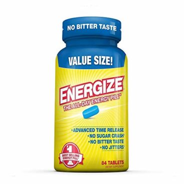iSatori Energize Caffeine Pills - Fast Acting Energy Pill - Healthy Focus Brain Supplement - Improved Alertness and Clarity - All Day Energy, No Jitters, No Crash - 84 Time Released Tablets
