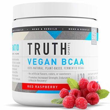 Truth Nutrition Fermented Vegan BCAA Protein Powder Supplement- 2:1:1 Improved Formula is Pure, Powerful All Natural Branched Chain Amino Acids (30 Servings) (Red Raspberry)